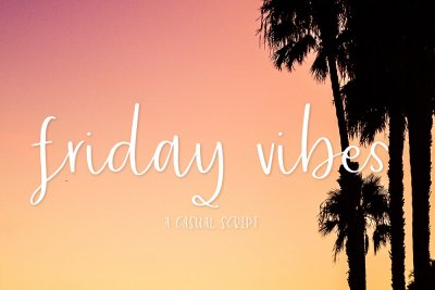 font Friday Vibes casual script