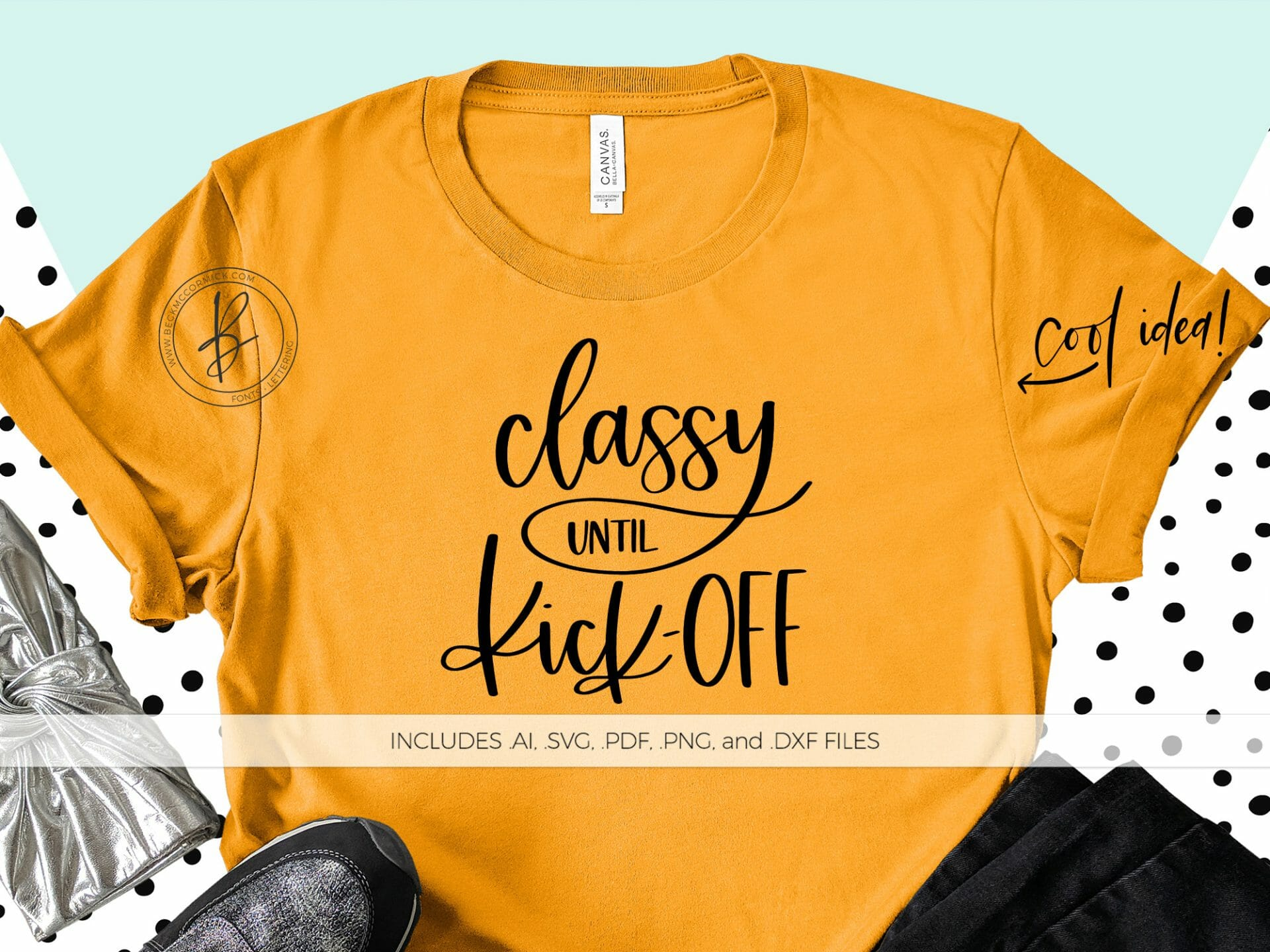 Classy Until Kick Off Svg File Silhouette Cut File Instant Download For Cricut Instant Download Silhouette Football Svg Fall Svg Beck Mccormick