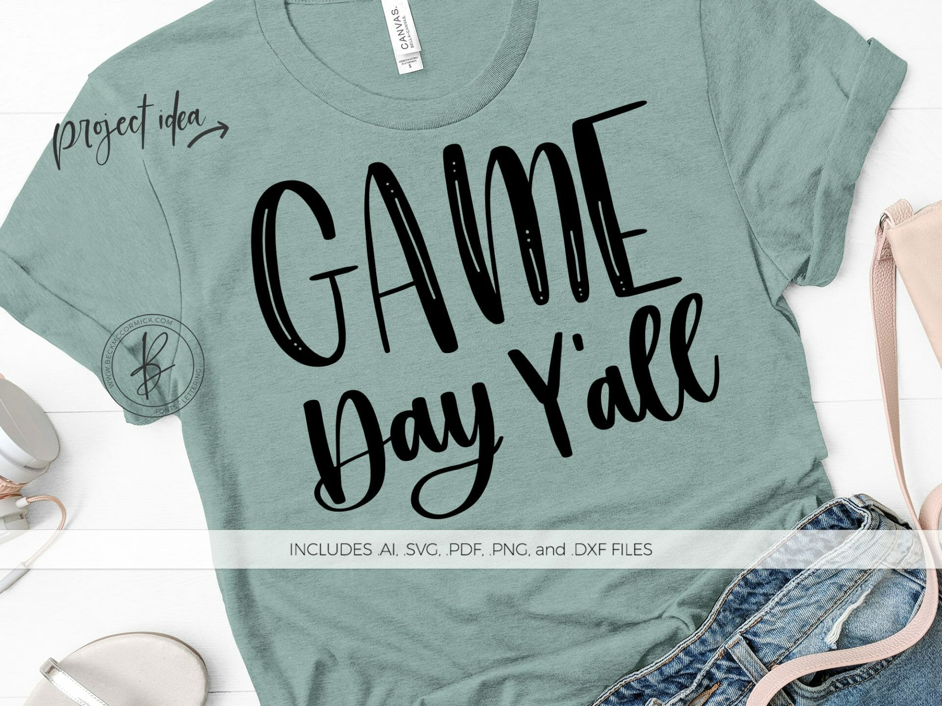 Game Day Y All Svg File Silhouette Cut File Instant Download For Cricut Instant Download Silhouette Football Svg Fall Svg Beck Mccormick