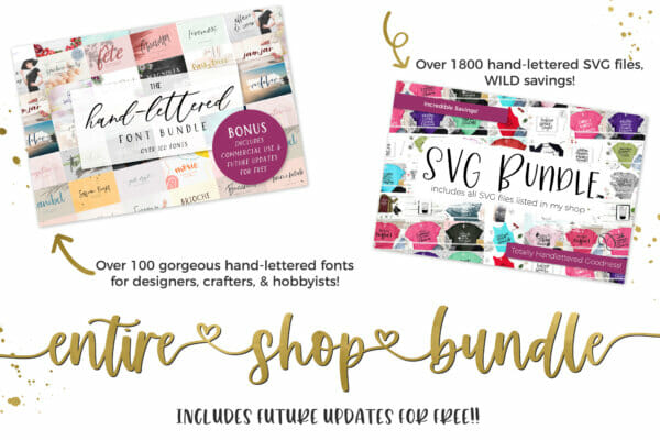 entire shop svg and font bundle