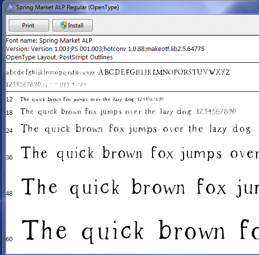 font installation on Mac computers